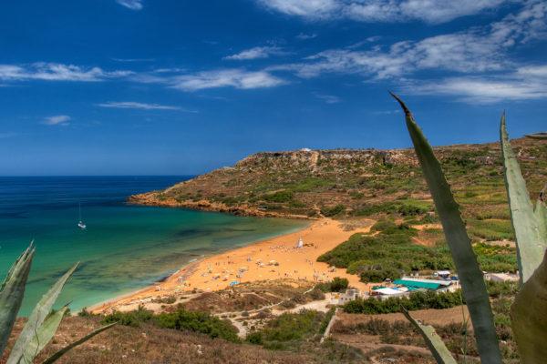 Playas de arena en Malta, Gozo y Comino